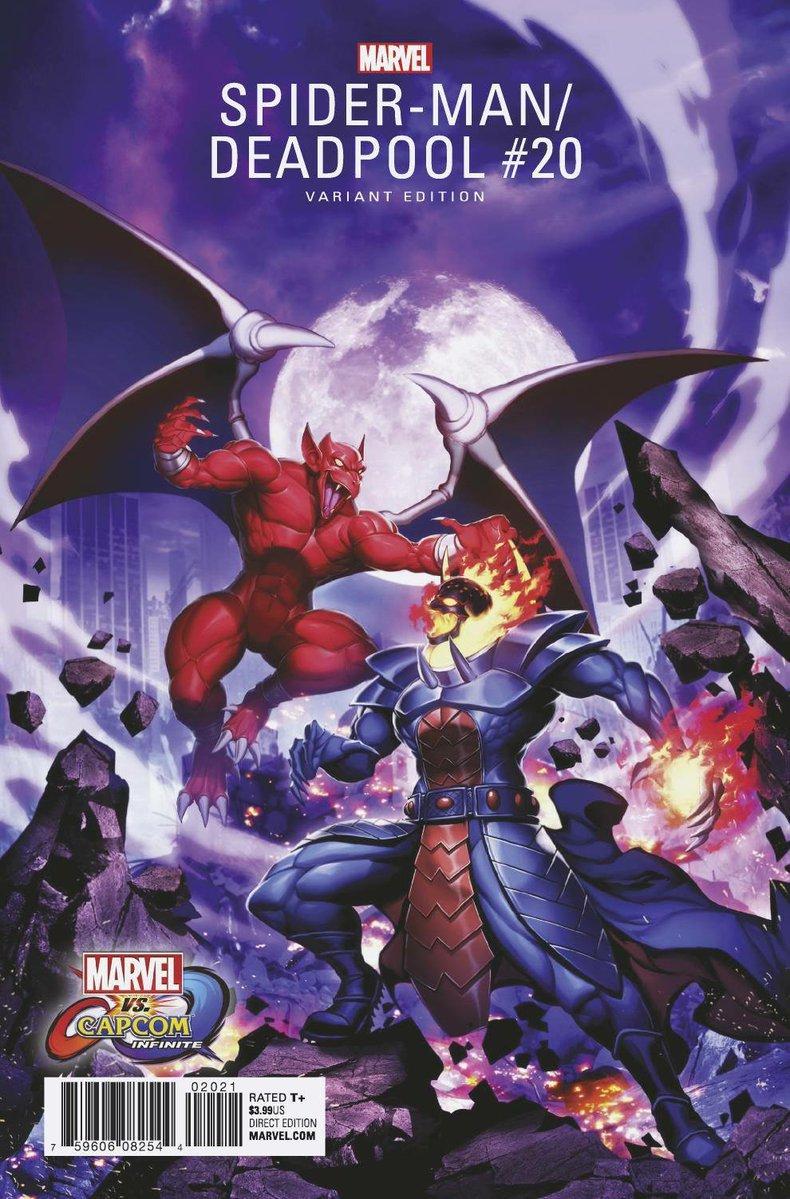 MVCI Variant Cover Spider-Man Deadpool Firebrand Dormammu