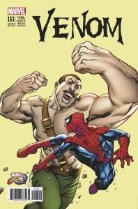 MVCI Variant Cover Venom Hagger Spider-Man
