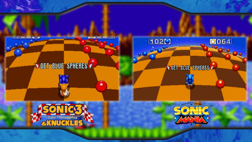 Sonic Mania Sonic 3&K Special Stage